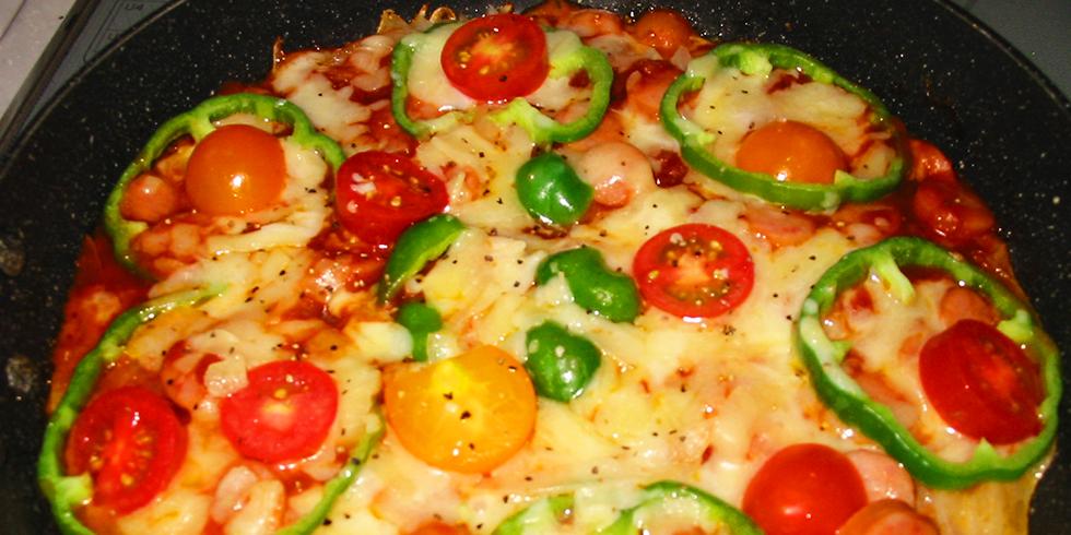 薄切りポテトのピザ風